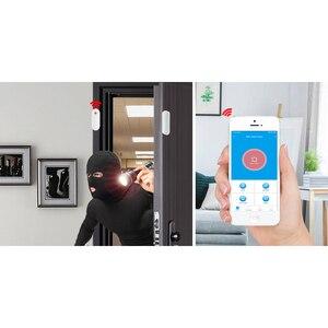 Image 2 - 433MHz Porta Finestra di Allarme del Sensore Magnetico Senza Fili Interruttore Rilevatore di Contatto di Segnalazione per Intruder Sistema di Allarme di Sicurezza