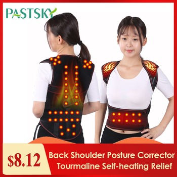 Tourmaline Self-heating Magnetic Therapy Waist Back Shoulder Posture Corrector Spine Lumbar Brace Back Support Belt Pain Relief sfit adjustable waist tourmaline self heating magnetic therapy back waist support belt lumbar health care brace massage band