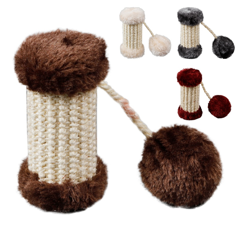 Interactive Funny Cat Teeth Grinding Catnip Toys Pet Claw Chew Toy Plush Sisal Durable Shaped Squeaky With Bell