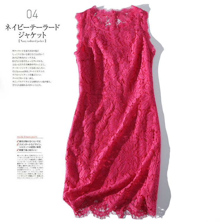 New All show exquisite figure Their time back ornament jing sleeveless lace VB0A581 butterfly image