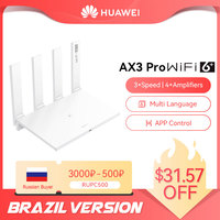 Brazil Version HUAWEI WiFi AX3 Pro Four Amplifiers (AKA AX3 Quad Core) WiFi 6+ Wireless Router WiFi 5 GHz Repeater 3000 Mbps NFC