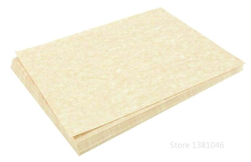 120gsm Size A4 Ivory Color Retro Parchment Parchtone Paper Vintage Design Double Sided Scrapbook Papers 2/10/30/50pcs You Pick