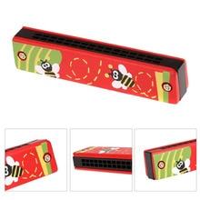 Красочная Губная гармошка, 16 отверстий, тремоло, губная гармошка, детский музыкальный инструмент, обучающая игрушка, подарок для детей, dropshipp