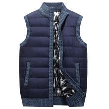 Новинка, мужские свитера в стиле пэчворк, Осень-зима, теплые свитера на молнии, жилет для мужчин, повседневный вязаный свитер, мужская одежда 358