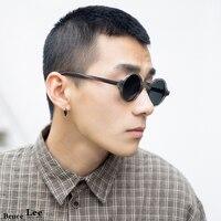 High Quality Retro Small Round Frame Polarized Sunglasses Men Personality Acetate Translucent Cat Eye Sunglasses Women vintage