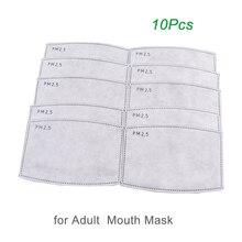 10 шт./лот PM2.5 фильтрующая бумага, маска для рта против пыли, фильтрующая бумага, уход за здоровьем
