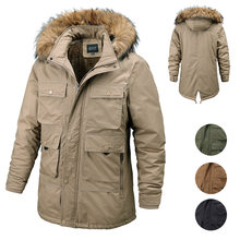 Новая мужская зимняя повседневная парка куртка верхняя одежда