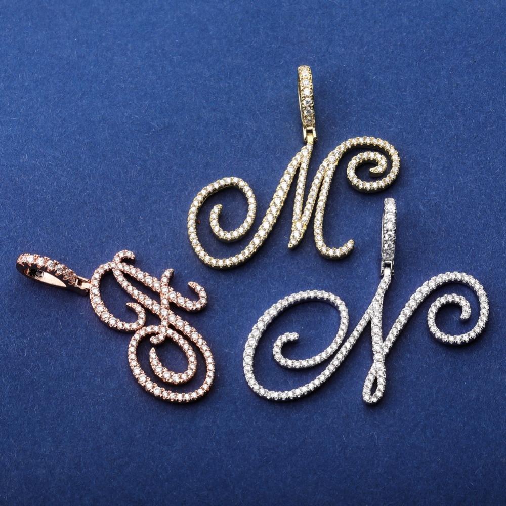 A-Z Cursive Pendant & Necklace