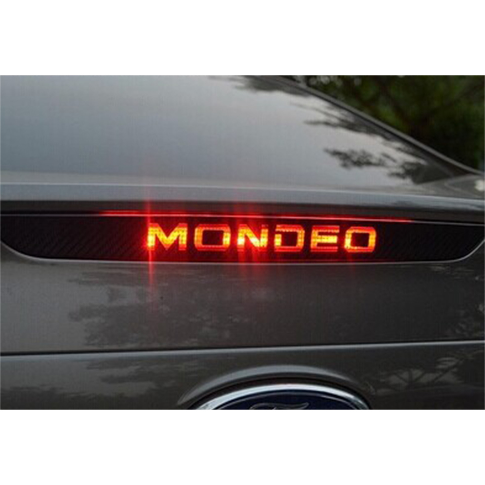 Car Styling Stickers For Ford Mondeo MK4 2007 2008 2009 2010 2011 2012 2013 3D Carbon Fiber High Brake LED Light Accessories