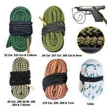Juego de Herramientas de limpieza para Rifle, Calibre de barril, cuerda de serpiente, 22 Cal.223 Cal.38 Cal y 5,56mm, 7,62mm,12GA, limpiador de Calibre de pistola de caza