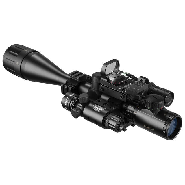 6-24X50 Aoeg Optical Sight Red Dot Holographic Green Laser Tactical Combination Rifle Scope Crossbow Hunting 2