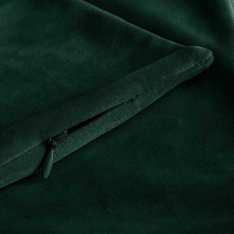 קטיפה דקורטיבי כריות מוצק כרית כיסוי כרית מקרה 45x45cm ציפית בית תפאורה ספה מושב כריות כיסוי 2019