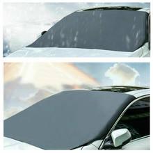 Magnético 1 pc carro pára-brisa sol sombra espessada anti-vento sol chuva neve proteção contra poeira protetores de janela capa