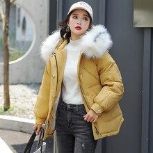 Winter Jacket Women Warm Down Jacket Female Parkas Artificial Fur Collar Plus Size XL Short Jacket Mujer Hooded Parkas цены онлайн