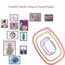 Embroidery Hoops Square Plastic Cross Stitch Hoop Ring Circl