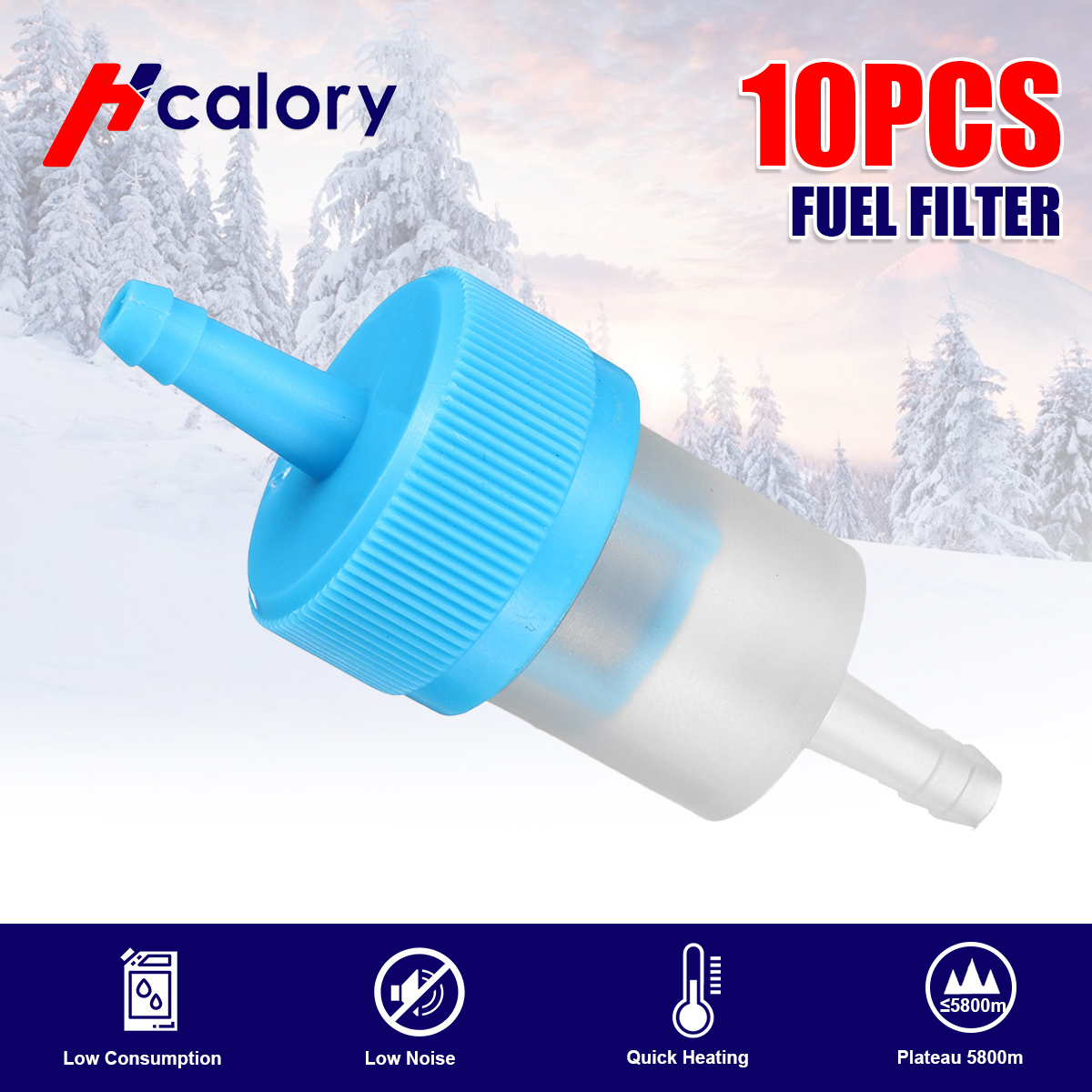 10pcs Blue High Qulity Motorcycle Oil Filters Motorcycle Scooter Gasoline Filter Inline Gas Fuel Filter