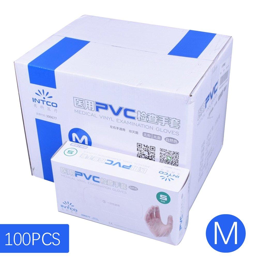 Vinyl Gloves Disposable Powder-free Industrial Food Safety 3mm Translucent Profession PVC Gloves Nitrile Gloves 100PCS/Box