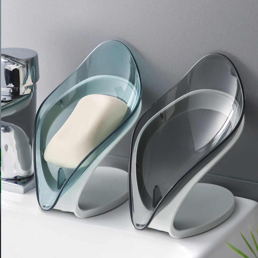 Bathroom Décor Simple Leaf Shape Soap Box Non-slip Bathroom Soap Holder