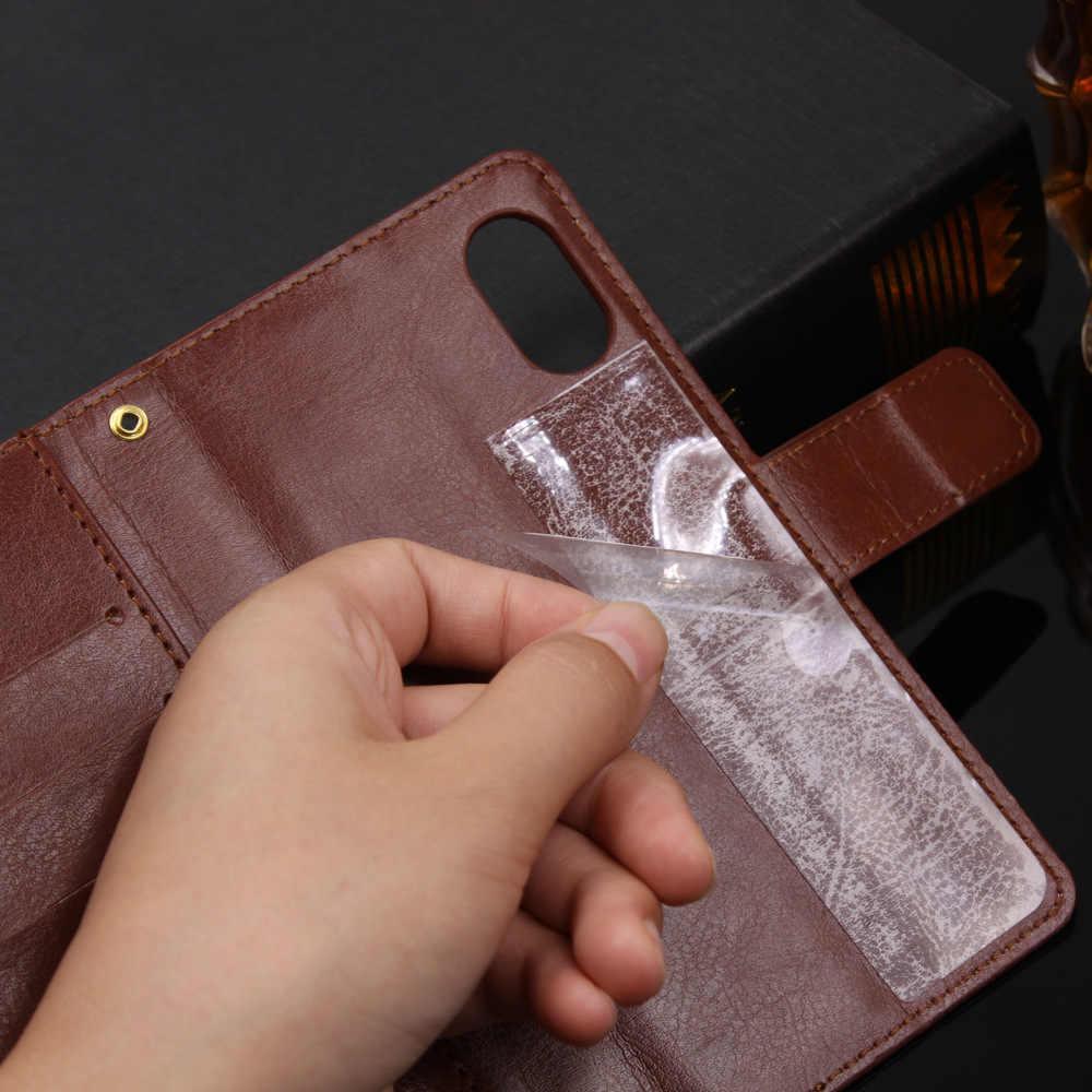 Ốp lưng Cao cấp điện thoại túi lật Bao Da PU Mèo Ví cho Highscreen Ví Mở Rộng công suất 5 Max 2 FEST dễ dàng Pro