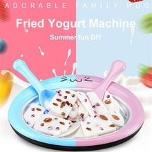 Pan Yogurt-Machine Ice-Cream-Maker Fried Mini with 2pcs Ice-Shovel Home-Stir Cartoon