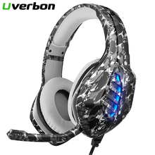 цена на Gaming Headphones Wired Earphones With Microphone Light Game Headset Stereo Deep Bass For PS4 PC Computer Gamer Laptop X Box
