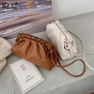 Image 1 - [BXX] بلون بولي Leather حقائب جلدية Crossbody للنساء 2020 سيدة الكتف حقيبة ساعي حقائب اليد الإناث ومحفظة أنيقة fj161