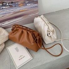 [BXX] düz renk PU deri kadınlar için Crossbody çanta 2020 bayan omuz askılı çanta bayan çanta ve çanta zarif HJ161