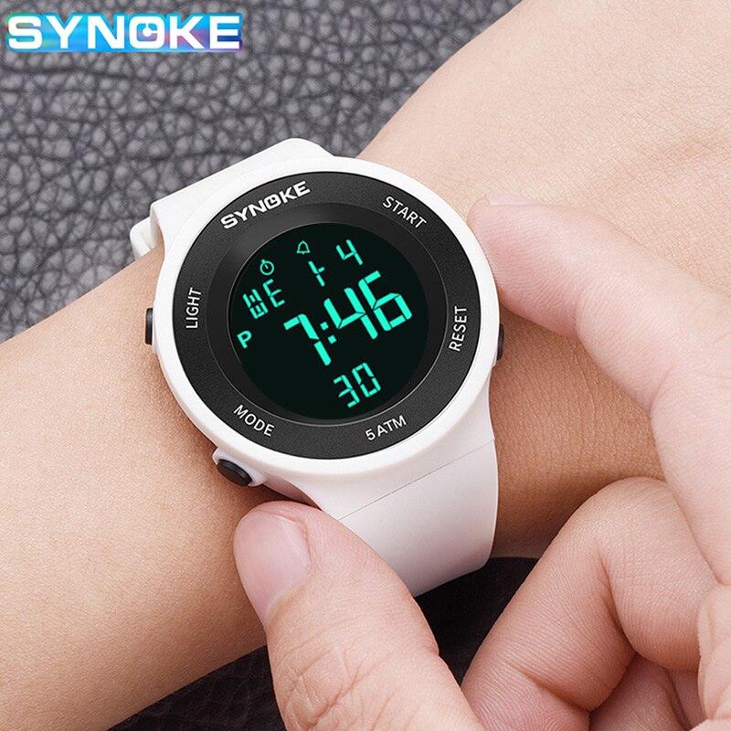 SYNOKE Fashion Sport Watch for Men Women Led Display Watches Alarm Clock Shock Resistant Waterproof Digital Watch Reloj Hombre