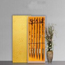Chinese Brush Pen Upscale Mouse Whisker Calligraphy Brush Pen Set 6pcs Huzhou Chinese Painting Writing Brush Caligrafia