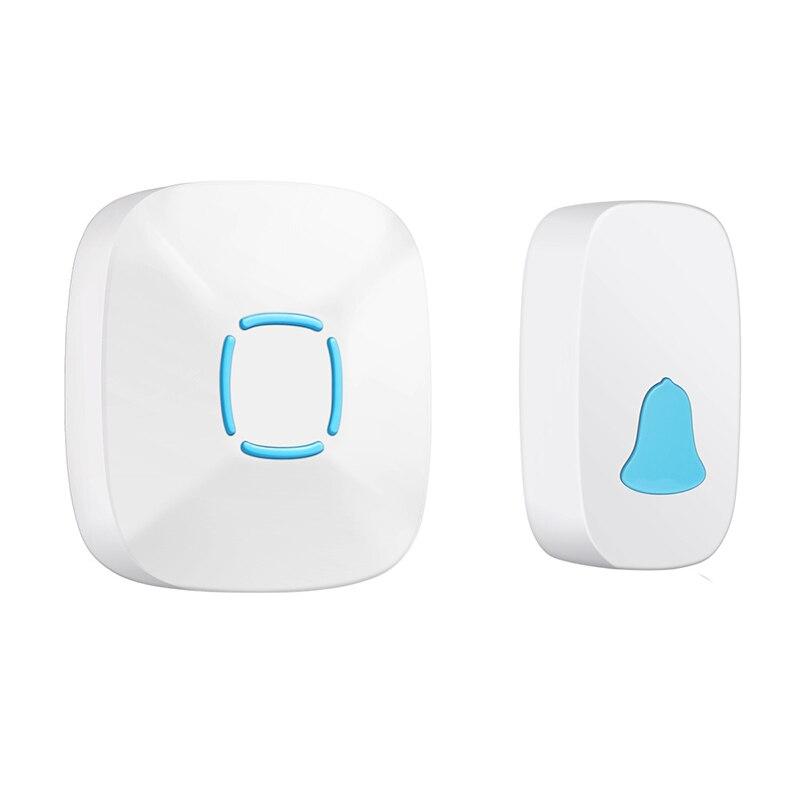 Wireless Doorbell Waterproof 300M Remote Long Range Door Bell 1x Outdoor Transmitters 1x Indoor Receiver(Eu Plug)