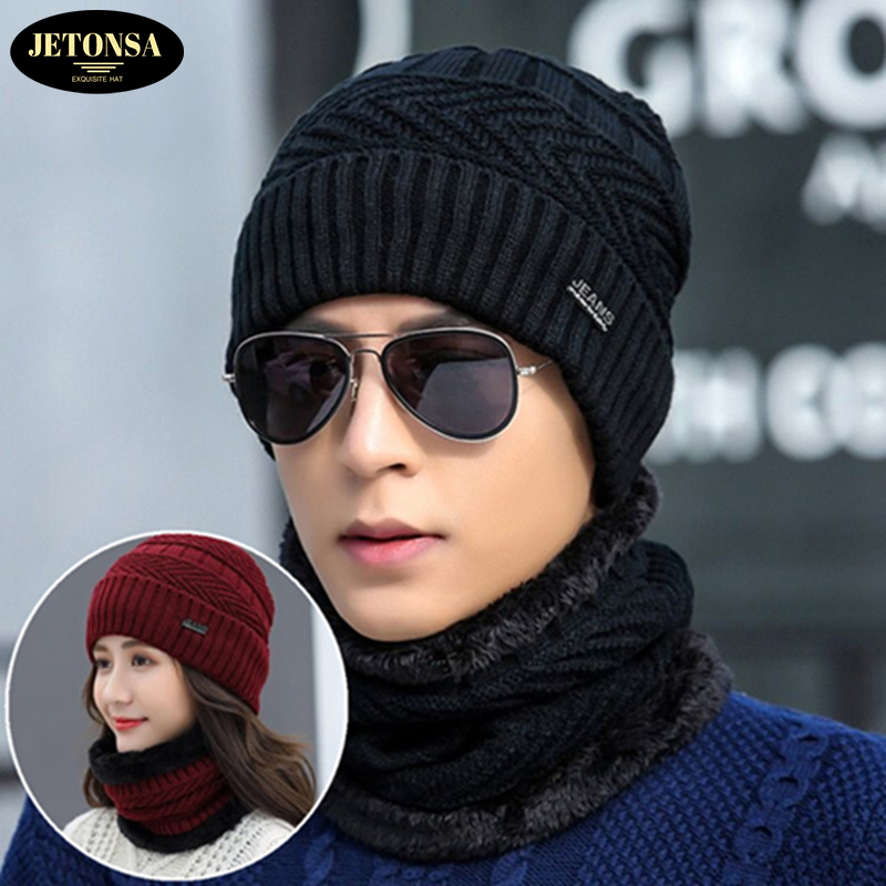 Hot Winter Hats Skullies Beanies Hat Winter Beanies For Men Women Wool Scarf Caps Balaclava Mask Gorras Bonnet Knitted Hat