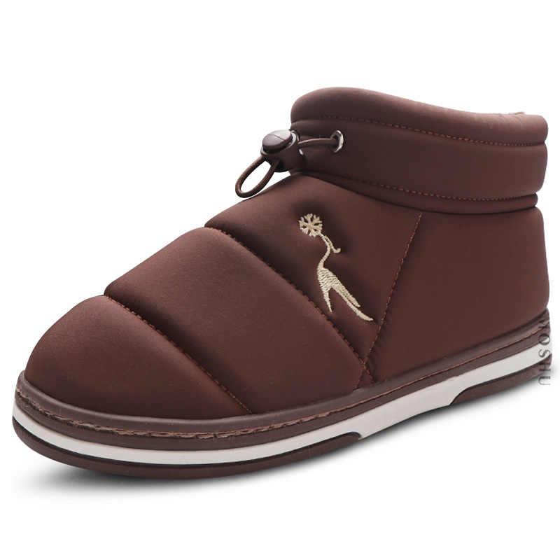 Kış Kar Botları Kadın yarım çizmeler Katı Peluş Ev Ayakkabı Üzerinde Kayma rahat ayakkabılar Kadın Patik Bayan Ayakkabıları Kürk Botas Mujer