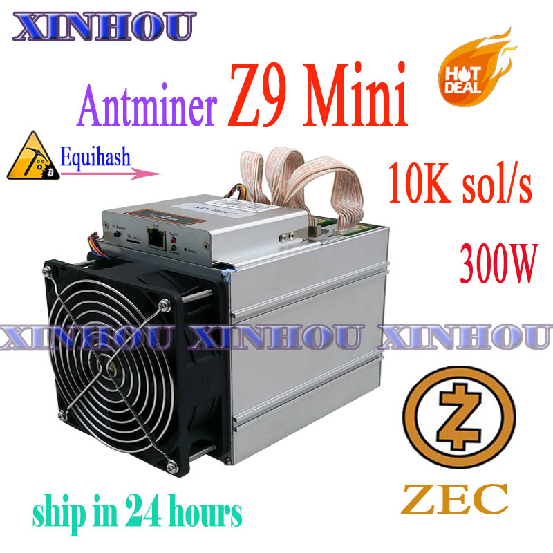 Antminer Z9 Mini10k Sol/s ASIC Miner Equihash No Psu Mining Machine ZCASH Can Be Overclocked To14K Miners Are Better Than S9 L3