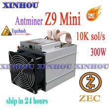 Antminer Z9 mini10k sol/s ASIC miner Equihash aucune machine d'extraction de psu ZCASH peut être overclocké les mineurs to14K sont meilleurs que S9 L3