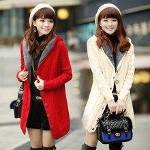 2020 warme winter jacken Frauen strickjacke hinzufügen wolle Weihnachten pullover Mode Lässig plus größe frauen mantel plus größe kleidung
