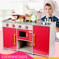 Новые европейские кухонные Детские Имитационные Деревянные Кухонные Игрушки для маленьких детей, интерактивные ролевые игры, игрушки 3Y +