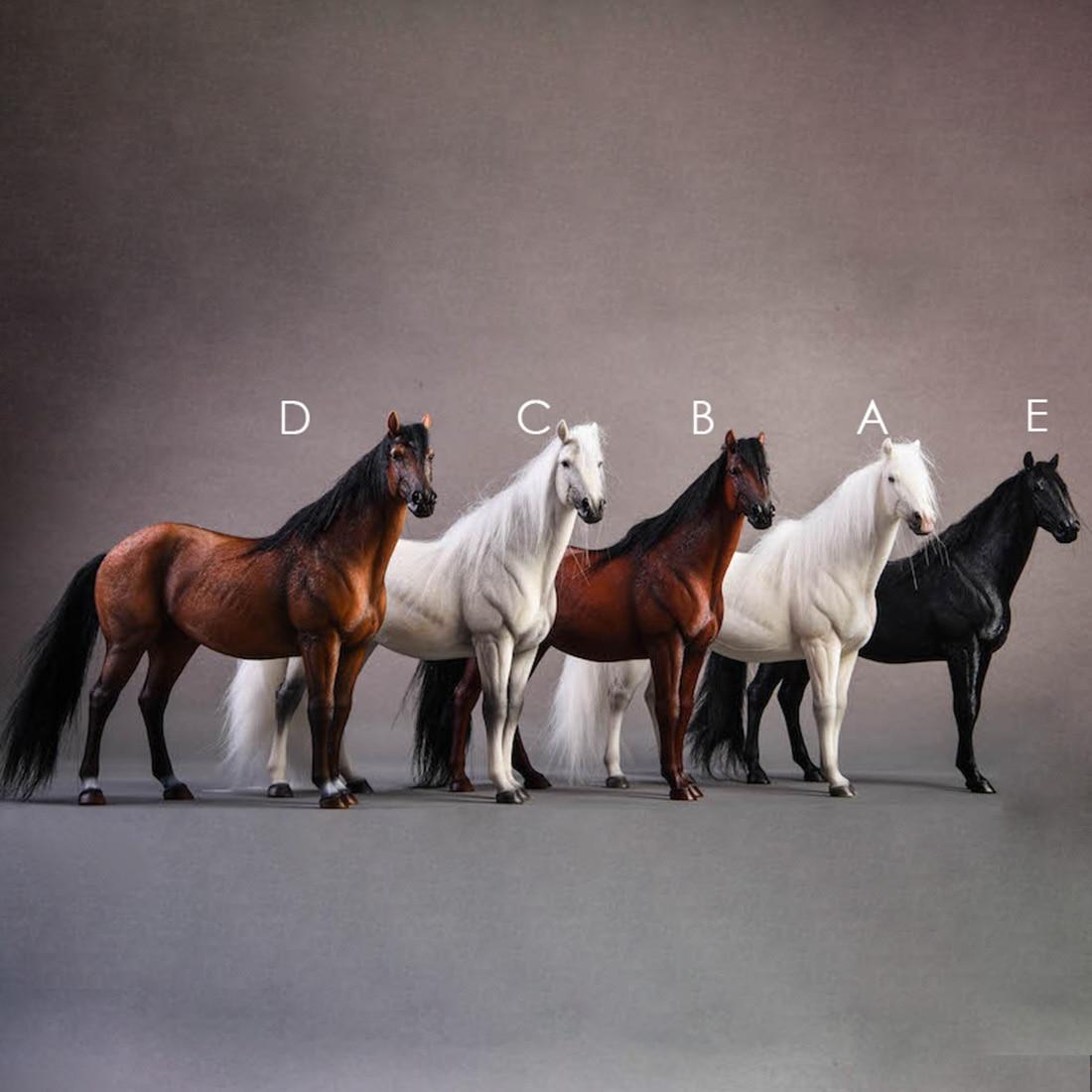 20cm 1/12 echelle allemagne hanovre modèle à sang chaud décoration de cheval-blanc