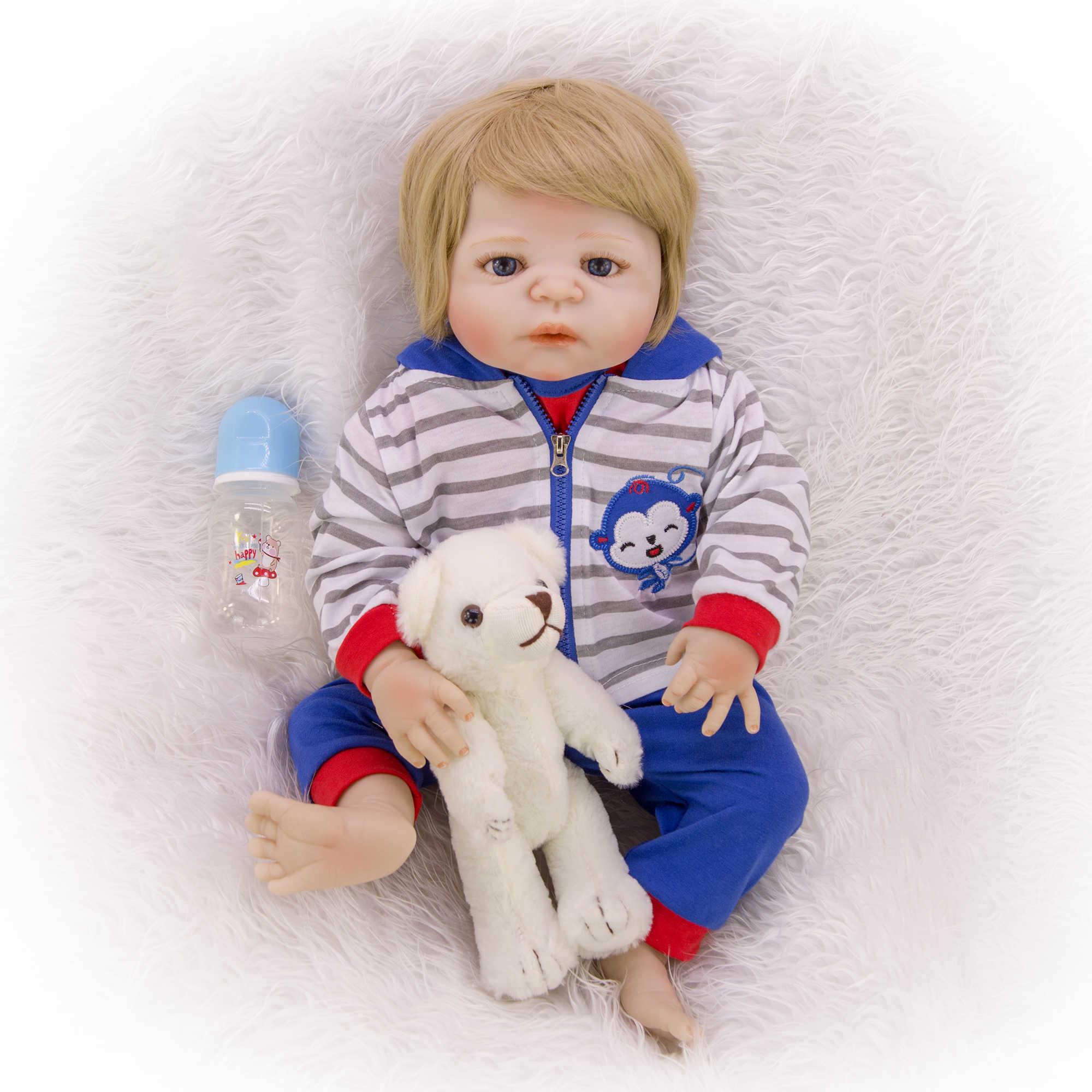 KEIUMI, хит продаж, 23 дюйма, мальчик, ребенок, Реборн, полностью силиконовая кукла, плеймат, Реборн, кукла для ребенка, 57 см, с обезьяной, на день рождения, сюрприз