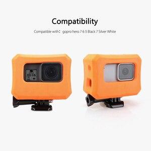 Image 2 - Vamson funda protectora para GoPro, funda flotante naranja para GoPro Hero 7 6 5 negro 7 plateado blanco, funda impermeable, accesorio para cámara