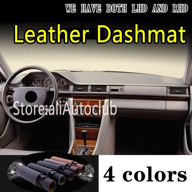 Dla mercedes-benz W124 V124 E klasa 1984-1995 skóra Dashmat pokrywa deski rozdzielczej mata na deskę rozdzielczą dywan niestandardowe akcesoria samochodowe do stylizacji
