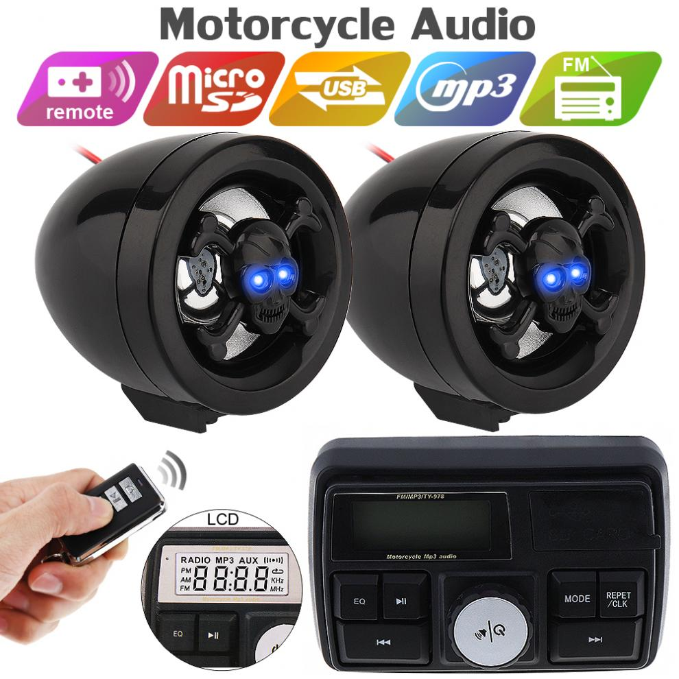 12V 10W Waterproof Anti-theft Sound MP3 Player With Display Screen For Motorcycle / Electric Vehicle