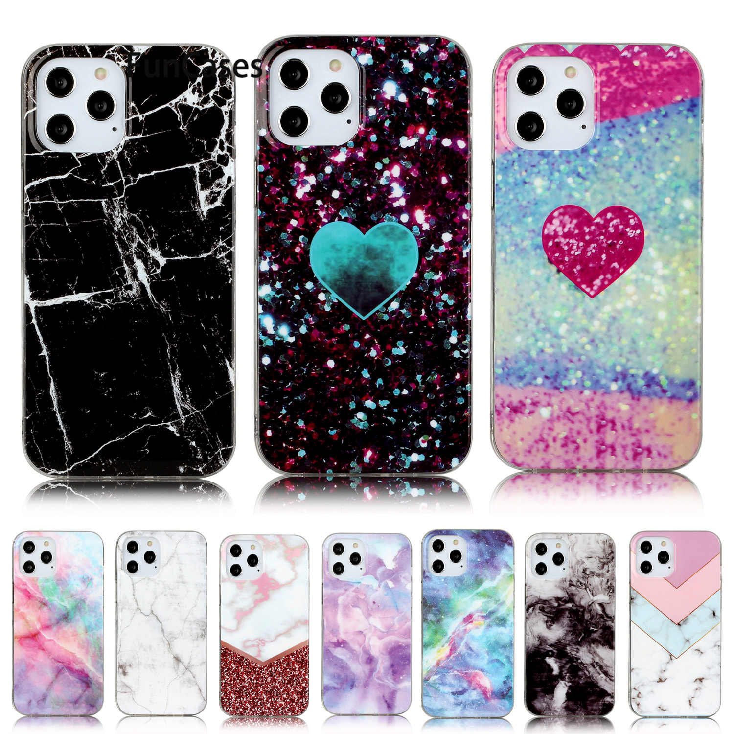 Starry Sky Soft Silicone Shell For iPhone 11 Pro Max Pattern Cases Portable Apple iPhone coque 11 Pro Max 12 Mini Phone Cover