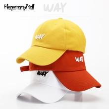 Spring cotton women's baseball cap WAY Alphabet knitting Yellow hat adjustable letter czapka z daszkiem dipp polo ralphlauren ca