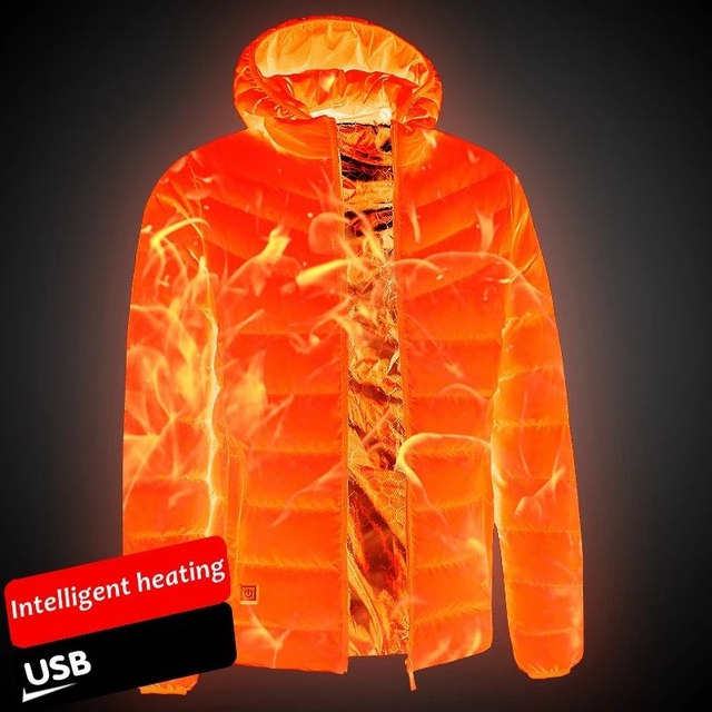 Мужская/женская теплая куртка с подогревом 11-ти областей 1