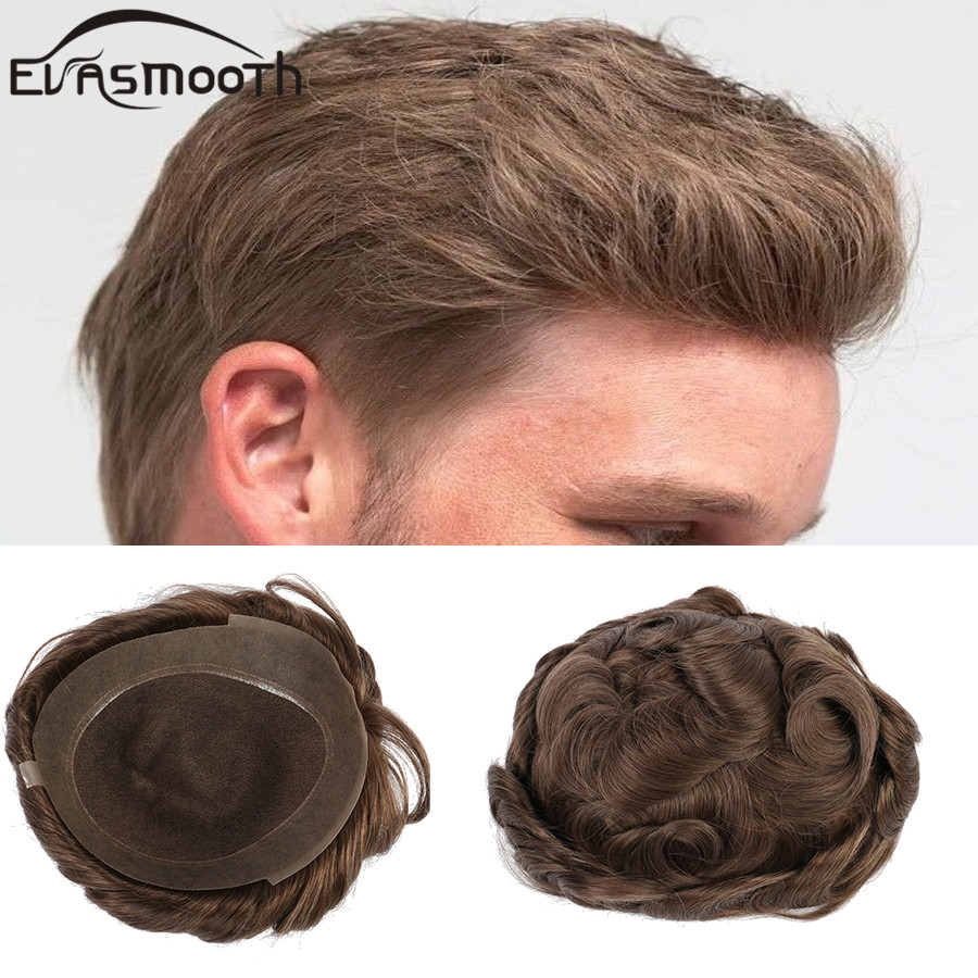 Fast Shipping Men Wig Swiss Lace Hair System Mens Toupee Soft Breathable Human Natural Hairline Remy Hair Men Hairpieces Wig
