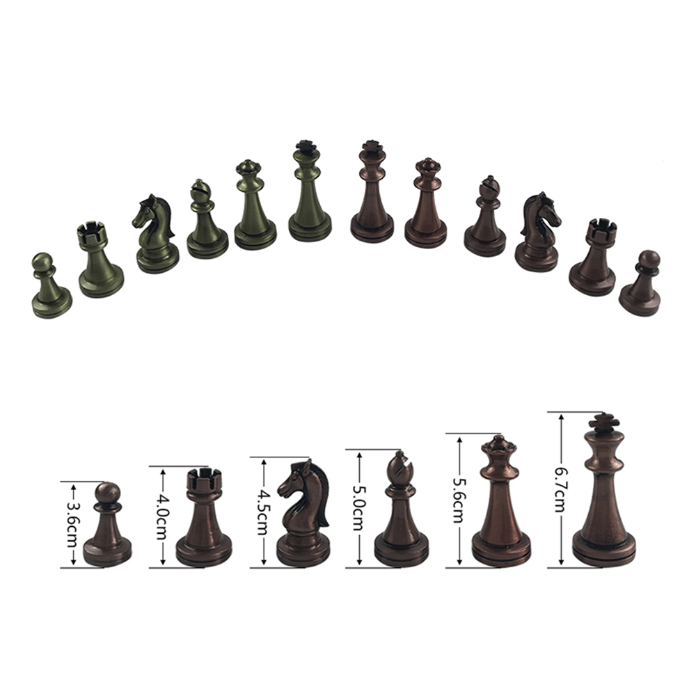 Chess Games Set Metal Glossy Golden And Silver Chess Pieces Solid Wooden Folding Chess Board High Grade Professional Gift 5