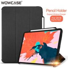 For iPad Pro 12.9 Case 2018 Pencil Holder Cloth Microfiber interior Smart Flip Cover For iPad Pro 12.9 A1876 A2014 A1895 A1983