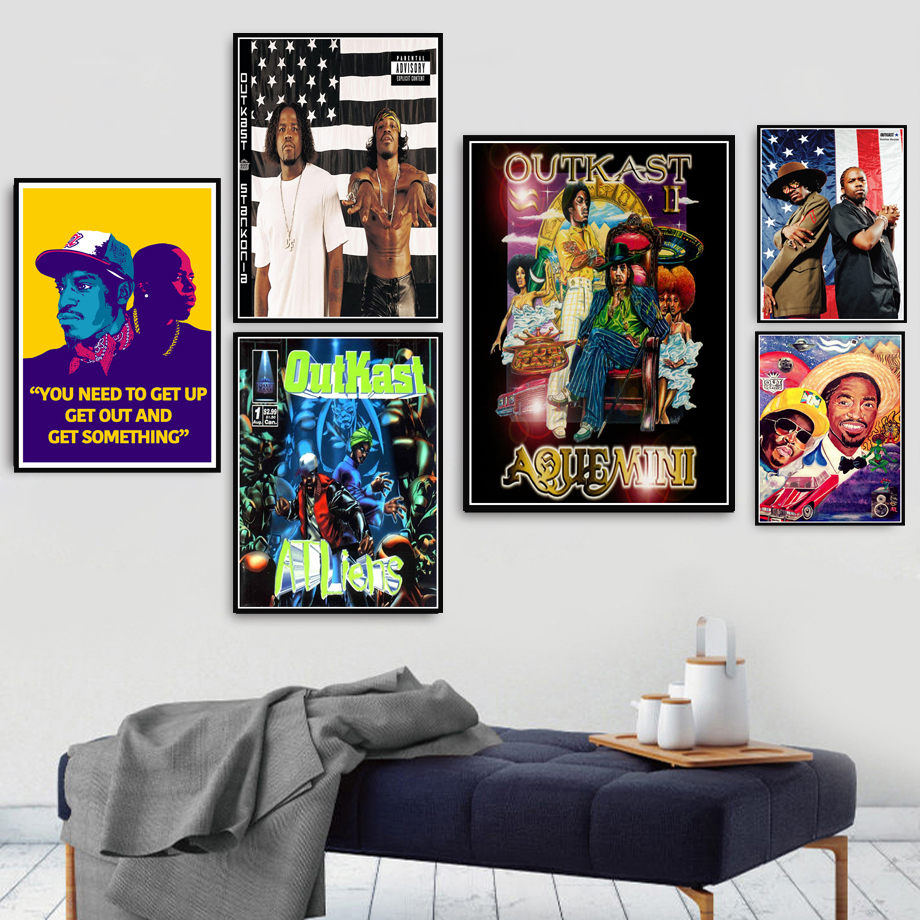 Poster Prints Hot Outkast USA Album Rap Music Star Hip Hop Rapper Stars Art Canvas Painting Wall Pictures Decor quadro cuadros image