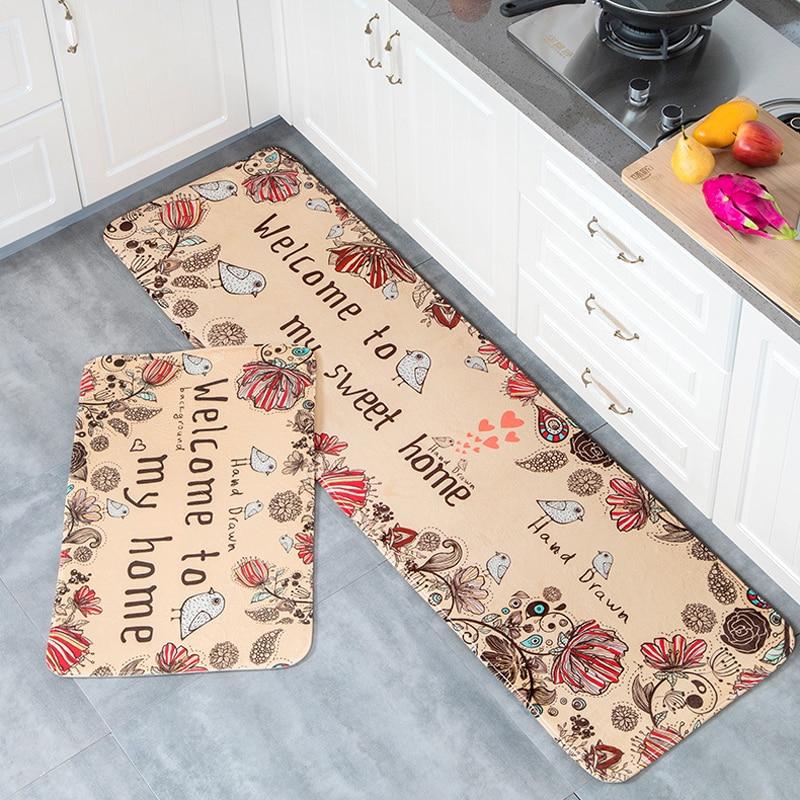 Capacho antiderrapante cozinha sala de estar tapete/tapete de banho casa entrada piso corredor área tapetes cozinha casa 10 estilo