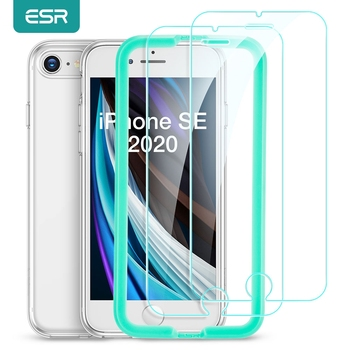 ESR Tempered Glass for iPhone SE 2020 8/7/6/6S Anti Blue-Ray Screen Protector Film Full Cover HD Screen Glass for iPhone SE 2020